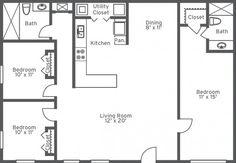 1000 images about handicap floor plans on pinterest for Handicap accessible modular home floor plans