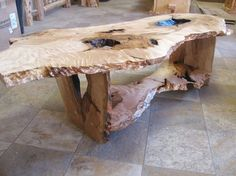 Maple Slab Coffee Table - coffee tables - other metro - by Perry Creek Woodworking, Inc. Unique Wood Furniture, Rustic Log Furniture, Live Edge Furniture, Tree Furniture, Diy Furniture Projects, Woodworking Furniture, Wood Projects, Teds Woodworking, Wood Slab Table