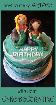 How to make a mermaid cake and other great tutorials here.