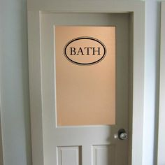 Bathroom Door Or Wall Decal Decorative Bath Room Sign Powder Guest Shower Decor Art Restroom Decoration Pinterest