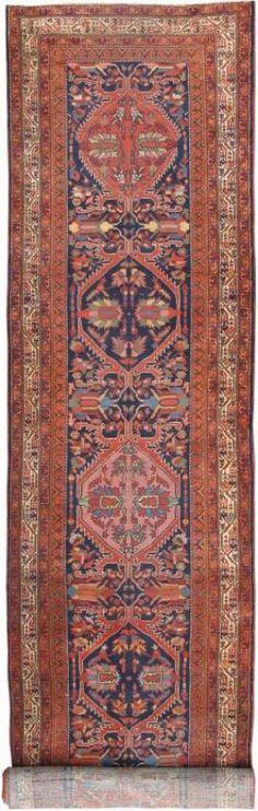 "KEIVAN WOVEN ARTS,   Type :Malayer Origin :Iran  Size : 3'5""x16'2""  Circa :1900"