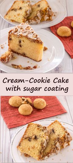 Cream-Cookie Cake with sugar coating.  So easy-to-make, and such a delicious cake!