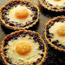 Baked Eggs in Wild Mushroom Tartlets - #SeasonsEatings #Harris Teeter