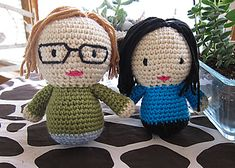 This pattern is a generic person pattern, but you should choose your own colors and add defining features that will match your character. Whether you are making your own Me, or creating another person, add defining features such as glasses, hairstyle or clothing accessory.