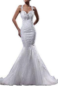 Elegant Organza Applique/Beaded Shoulder Straps Floor Length Court Train Mermaid Wedding Dress(14,Ivory) Angel Formal Dresses http://www.amazon.com/dp/B00NXX4PNY/ref=cm_sw_r_pi_dp_XR3yub14G2YMZ