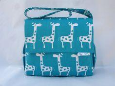 Diaper Bag  Boy or Girl  Giraffe Party  by pollywogsandtadpoles, $69.00