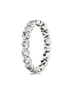 PANDORA Ring - Sterling Silver & Cubic Zirconia Forever More   Bloomingdale's