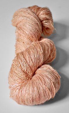 Old flamingo OOAK Tussah Silk Lace Yarn by DyeForYarn on Etsy
