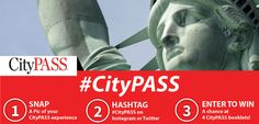 Share your #citypass fun for a chance to win 4 CityPASS booklets. To enter, tag your photo or video on Instagram or Twitter with #citypass, or visit http://www.citypass.com/giveaway. Happy travels!