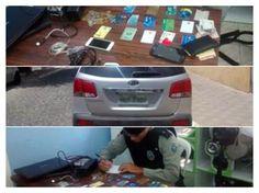 Trio suspeito de estelionato é preso após clonar cartões e sacar R$ 26 mil na Paraíba   Gavião da Paraíba