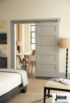Ordinaire In Awe Of The Sleek Look Of This Bedroom Featuring Our Wall Mount Sliding  Door Hardware