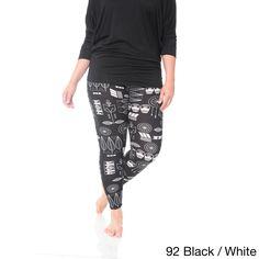 White Mark Women's Plus Size Leggings