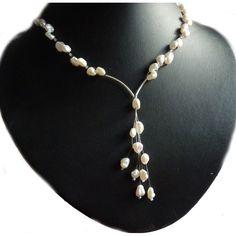 Brautschmuck set perlen creme  toller Design Brautschmuck - 925 Perlenkette | BRAUT & SCHMUCK ...