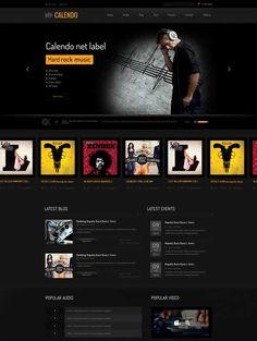 Free-HTML-Music-Rock-Website-Template | lilmoove | Pinterest ...