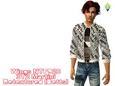 MYB Sims: Wings Hair NTF925 Retextured by Betts