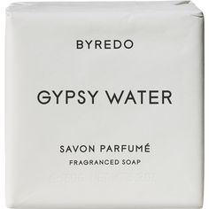 Byredo Gypsy Water Soap Bar 150g (€27) ❤ liked on Polyvore featuring beauty products, bath & body products, body cleansers, fillers, makeup, beauty, white, white fillers, colorless and byredo