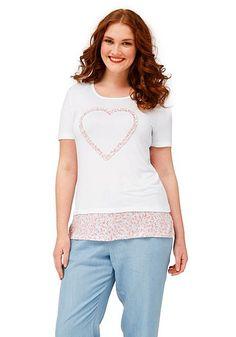 sheego Trend T-Shirt - weiß bedruckt | sheego XXL-Mode