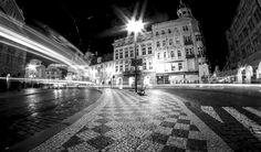 "Fotografie ""Kostky, kam jdete?"" | Megapixel.cz Prague, Black And White Photography, Street View, City, Beautiful, Photos, Black White Photography, Bw Photography, Cities"