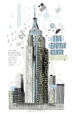 Artista quer desenhar todos os prédios de NY