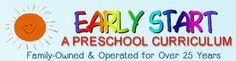 Early Start - Preschool Curriculum & Teacher's Guides. Pricing (each):  10-19 @ $3.70, 20-29 @ $3.45, 30-39 @ $3.30, 40-49 @ $3.15, 50-59 @ $3.05, 60-69 @ $2.95,