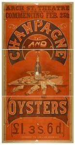 Cartel publicitario para una marca de champán, 1878