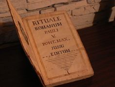 Official Catholic exorcism ritual in Latin from 1776.  There is a pdf of the entire book here.