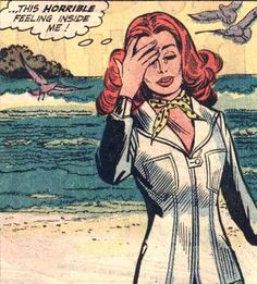"Comic Girls Say..""...This horrible feeling inside me!"" #comic #vintage"
