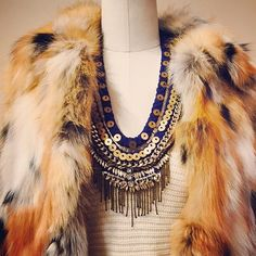@neapolitancollection really adding some #boho #chic with the layne necklace #MGoutfits