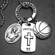 BASKETBALL Athletes Patron Saint St. Sebastian by 12StarsJewelry St Sebastian, Patron Saints, Athletes, Basketball, Unique Jewelry, Handmade Gifts, People, Etsy, Kid Craft Gifts