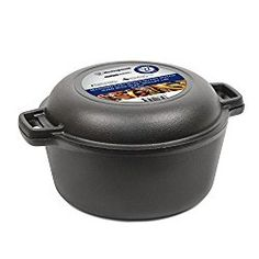Westinghouse WFL508 Select Series Seasoned Cast Iron 5 Quart Dutch Oven with Skillet Lid