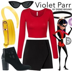 Disneyland Outfit Ideas 2019 - Violet - Incredibles Disneybound - Helen Home Disney Bound Outfits Casual, Cute Disney Outfits, Disney Princess Outfits, Disney Themed Outfits, Disney Dresses, Disney Fancy Dress, Casual Outfits, Disney Cosplay, Disney Costumes