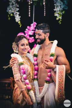 Vibrant Destination Wedding With Stunning Decor & Gorgeous Outfits! wedding garland Vibrant Destination Wedding With Stunning Decor & Gorgeous Outfits! Indian Wedding Couple, Wedding Couple Poses, Wedding Couples, Indian Destination Wedding, Indian Bridal, Flower Garland Wedding, Wedding Garlands, Wedding Garland Indian, Wedding Mandap