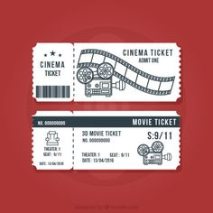 Now we also create exclusive designs for you, free for both personal & commercial use. Ticket Cinema, Movie Ticket Stubs, Deco Theme Cinema, Cinema Party, Movie Ticket Template, Ticket Design, Coupon Design, Design Reference, Free Design
