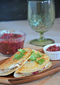 Leftover Turkey Tacos with Cranberry Salsa, www.mountainmamacooks.com