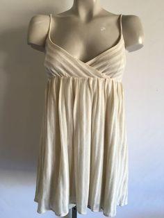 Alice Olivia Knit Striped Empire Waist Babydoll Top Shirt Blouse Sz L $225 | eBay