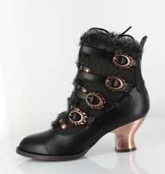 Black Ankle Boots Nephele by Hades Size 9 Steampunk Victorian Vintage Retro Sexy Boots, Black Ankle Boots, Ankle Booties, Bootie Boots, Black Shoes, Steampunk Shoes, Steampunk Clothing, Steampunk Costume, Steampunk City