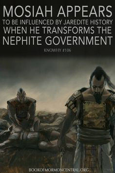 The subtle ways Mosiah appears to be drawing on the Jaredite record when deciding to transform the Nephite government into a system of judges illustrates the consistency and complexity of the #BookofMormon. These connections also explain why #Mormon interrupts the narrative about the succession crisis to relate the translation of the Jaredite record. https://knowhy.bookofmormoncentral.org/content/what-do-the-jaredites-have-to-do-with-the-reign-of-the-judges