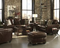 Buy Tivona - Coffee Living Room Set by Millennium from www.mmfurniture.com.