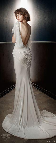 galia lahav spring 2018 bridal circular sleeves deep plunging v neck lightly embellished bodice grecian elegant sheath wedding dress open low back sweep train (velvet) bv -- Galia Lahav Spring 2018 Wedding Dresses
