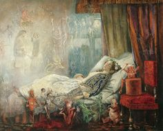 """John Anster Fitzgerald, """"The stuff dreams are made of"""""""