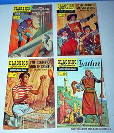 Lot of 4 Classics illustrated Comics issues 1 2... - Exclusively on #priceabate #priceabateCollectibles! BUY IT NOW ONLY $19.99