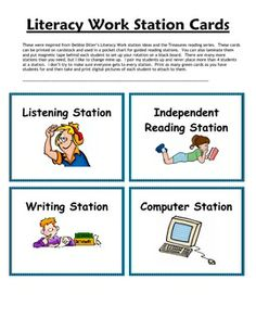 These were inspired from Debbie Diller's Literacy Work Station ideas and the Treasures reading series.  These cards can be printed on cardstock and...