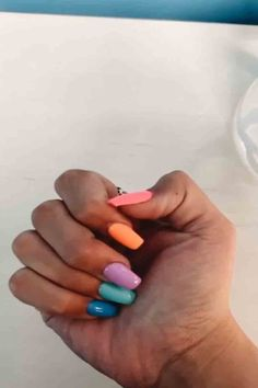 Semi-permanent varnish, false nails, patches: which manicure to choose? - My Nails Summer Acrylic Nails, Pastel Nails, Best Acrylic Nails, Funky Nails, Cute Nails, Stylish Nails, Trendy Nails, Nagel Gel, Dream Nails