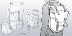 Sketches w elike / Bag / Digital Sketch / Camera Bag / Thule / at behance Design Thinking, Sketch Inspiration, Design Inspiration, Designs To Draw, Cool Designs, Id Digital, Drawing Bag, Sketch Drawing, Sketch Design