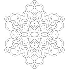 Dont Eat the Paste: Heart Snowflake Coloring Page