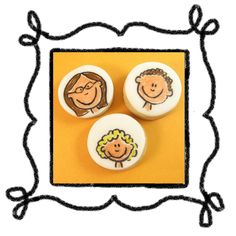 Draw your family on cookies - looks like Angie, Tatem, and Jaxen to me!
