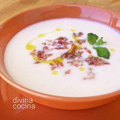 Crema fría de melón con yogur