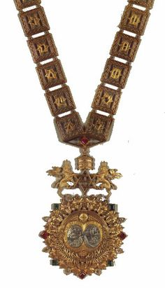 """The Order of Solomon was established initially as a collar by Ras Tafari Makonnen in 1922 — whilst he was still Regent under Empress Zauditu — """"to be awarded to foreign Kings who had the rank according to Emperor"""". The Collar was originally envisaged by Emperor Haile Selassie, it is believed, as the highest rank of the Order of Solomon's Seal, created by Emperor Yohannes IV in 1874, which was itself often referred to as """"the Order of Solomon"""", but became a separate order which was awarded…"""