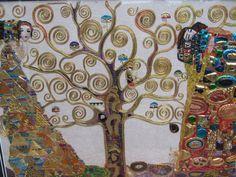 "Goldwork and embroidery. Gustav Klimt ""the Kiss"" 70cm/50cm By MagpieGoldwork"