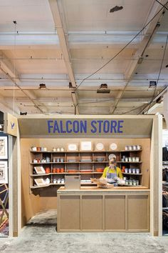 Falcon Store | product/interiors designers, Kiwi & Pom, brand consultants, Morse Studio, and co-founder, Peter Hames.